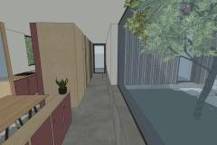 Circulation et patio